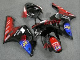 Carenados moldeados por inyección online-Embarcación moldeada por inyección pintada a medida de color negro rojo Kawasaki Kawasaki Ninja ZX6R 2003-2004 17