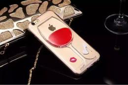 Venta caliente tapa de la caja transparente líquida del vino rojo para Apple iPhone 4 4S 5 5S 5c todos los modelos de cajas del teléfono cubiertas posteriores desde fabricantes
