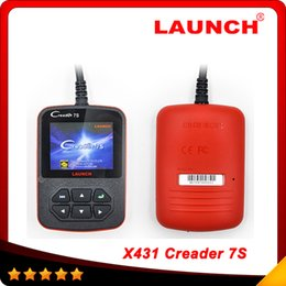 Wholesale Reset Oil Launch - 2016 New Released Original Launch X431 Creader 7S Code Reader +Oil Reset Function Creader vii plus Free shipping