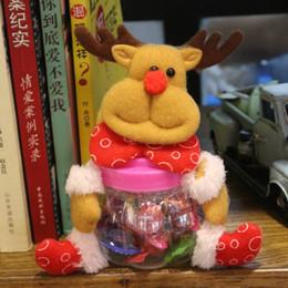 Wholesale Hanging Jars - 16*17cm Christmas Hanging Decoration Candy Jar Bottle Santa Claus  Snowman Bear Elk Christmas Gifts Storage Tank Ornament 20Pcs Lot