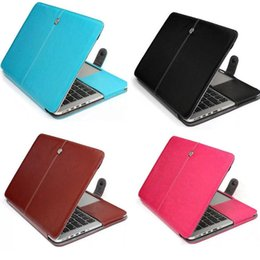 Wholesale 13 Leather Case - Faux Leather Laptop Folio Book Wallet Cover Case For MacBook Pro, With Retina Display, Air 11  13  15 inch