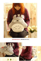 Wholesale Totoro Hand Warmers - Cute Chinchilla warm hand over, two purposes pillow cushions, pillow nap Dual Hand Totoro plush toys creative