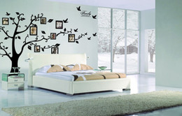 Wholesale Extra Large Wall Decals - Extra Large! 250*180cm Photo frame tree Family Picture DIY Removable Art Vinyl Wall Stickers Decor Mural Decal Living Room