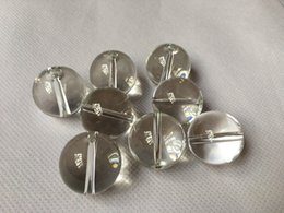 Wholesale Nail Ball Beads - Glass Carb Cap for Quartz Thermal Banger Flat Top Domeless Quartz Nail OD 24.6mm Glass Beads Ball Caps Thick Glass Water Pipes