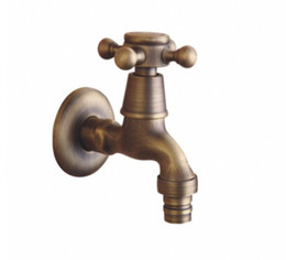 Wholesale Electric Shower Faucet - Top sale Antique brass bathroom faucet shower faucet laundry and utility faucets single cold water taps A-FN8001