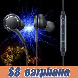 Wholesale Wireless For Bass - S8 Headphones Headset For Samsung Galaxy S8 Plus 3.5mm headphone Genuine Black In-Ear Earphones EO-IG955BSEGWW Power Bass Handsfree Earbuds