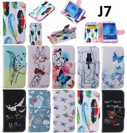 Wholesale Leather Case Painting Series - for SAMSUNG GALAXY J7 J700 J700F series pu leater All-over the medial inside drawing painted phone case stand flip style cover
