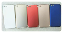 Wholesale Housing Full Case - On sale! Full Red Housing Chassis For iphone 5 5S SE like 7 8 housing Back housing battery door Aluminum metal Glass cover case i8 i7 style