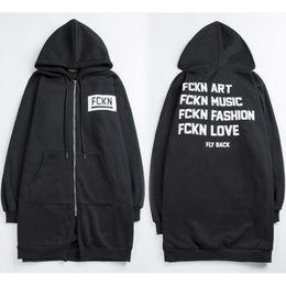 Wholesale Gd Hoodie - Fashion bigbang GD long style hoodies for men star couple black hoodies men tide zipper men hoodies free shipping