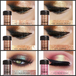 Wholesale Loose Makeup Eye Glitter - Focallure 18 colors Brand Glitter Eyeshadow Powder Waterproof Loose Shimmer Eyeshadow Pigment 3D Nude Metallic Eye Shadow Makeup Cosmetics
