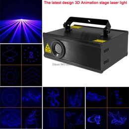Wholesale Animation Laser System - new arrival 1w BLUE laser 3D animation scanner projector ILDA DMX Stage DJ lighting Dance Show disco Party Light Show system