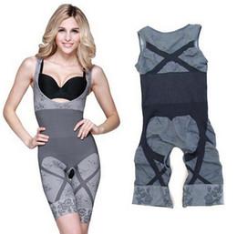 Wholesale Bamboo Charcoal Slimming Suit Wholesale - Bamboo Fiber Magic beauty slimming underwear gen bamboo charcoal slimming suits Pants Body Shaping Bodysuit