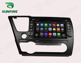 honda civic car dvd gps player Скидка Четырехъядерный 1024*600 HD экран Android 5.1 автомобильный DVD GPS навигационный плеер для HONDA Civic седан 2014 Bluetooth Wifi/3G управление рулевым колесом