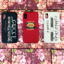 Wholesale Hard Plastics - New luxury brand graffiti letters phone shell for iphone X 7 7plus 8 8plus hard back cvoer for iphone 6 6S 6plus