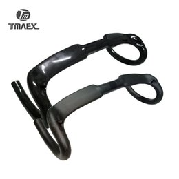 Wholesale Carbon Road Bars - No Logo 3K Cycling Bicycle handlebar Carbon Handlebars Bike Handlebar Road Cycling Bike Bent Handlebars Bicycle Carbon Bars