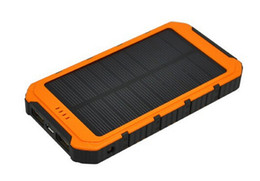 Wholesale Real Banks - Real Hot Sale 15001-20000 20000mah Portable Waterproof Solar Power Bank Dual-usb Battery Charger for Cell Phone + Usb Led Flashlight