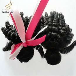 "Wholesale 22 Vogue - ""Vogue Sexy Unprocessed Brazilian Aunty Funmi Virgin Hair Weaves,Romance Sprial Curly Human Hair Weft,Natural Black Aunty Fumi Hair Extensio"