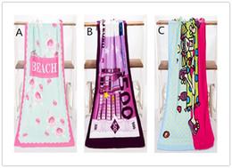 Wholesale Beach Baby Shower - 70*140cm Absorbent Microfiber Bath Beach Towel Drying Washcloth Swimwear Shower For Gift