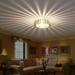 Wholesale 3w Warm White Ceiling - Home LED 3W Hall Light Walkway Porch Decor Lamp Sun Flower Creative LED Ceiling Lights
