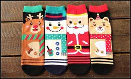 Wholesale Santa Bear - 2015 santa claus women men creative novelty tube socks cartoon santa reindeer snowman bear christmas socks J082803#