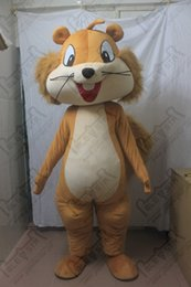 Wholesale POLE STAR MASCOT COSTUMES big long fur tail squirrel mascot costumes high quality exact as pictures hot sale squirrel costumes brown