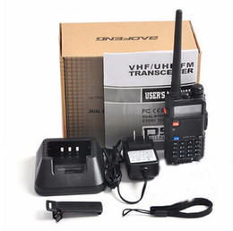 Wholesale Handy Talkie Vhf - Wholesale-2pcs Baofeng UV-5R Pofung UV 5R UV5R Two Way Ham CB Portable Radio VHF UHF Dual Band Transmitter Handy Walkie Walk Talkie Sets