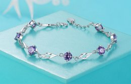 Wholesale Platinum Plated Silver Bracelet - best gift for the sale of 925 silver bracelets, the love of the new fashion 925 standard pure silver chain Gemstone Bracelet