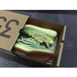 Wholesale Mens Running Shoes Us12 - With Box Kanye West Boost SPLY V2 350 Semi Frozen Yellow Beluga 2.0 Zebra Cream White Copper Size 13 V2 350 Running Shoes Mens Womens Sale