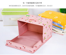Wholesale Desktop Cosmetic Storage Box - HOT selling 2016 Home Office desktop Multifunction Folding Makeup Cosmetics Storage Box Container Case Stuff Organizer