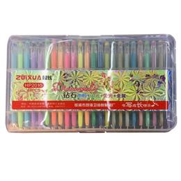 Wholesale Art Chalk Set - PrettyBaby neon water chalk diamond gel pens Fluorescent glitter and metallic gel pen for secret garden coloring book fine drawing 48 color