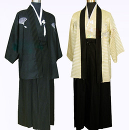 Wholesale Free Naruto Games - Wholesale-Free Shipping samurai kimono cosplay Traditional japanese clothes Man   Mal A ninja naruto Gongfu Costume show suit