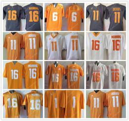 Wholesale peyton manning jersey xxl - College Tennessee Volunteers Jersey 11 Joshua Dobbs 16 Peyton Manning Jersey Home Away