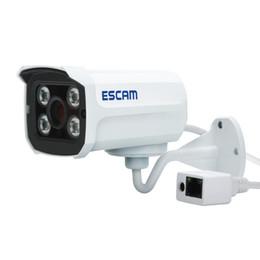 Wholesale Wireless Ip Pan Tilt Camera - Escam Brick QD300 Mini Camera HD720P IR Bullet H.264 CMOS IP Camera 3.6mm Lens Onvif Night Vision P2P 1.0MP