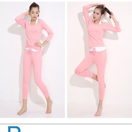 Wholesale Dance Yoga Wear - 2016 New Wholesale Sport Yoga Wear set Women Breathable Fitness Clothes Long Sleeve Jogging T-shirt Girls Ballroom Dance or Training