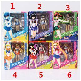 "Wholesale Pluto Moon - 6pcs set 6""15cm Sailor Moon Toy With Box Tsukino Usagi Mars Jupiter Venus Mercury Uranus Pluto Action Figure Model Toy"