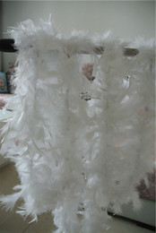 Wholesale White Marabou - Free shipping 20pcs 200cm pcs white Feather Boas 40gram Chandelle Feather Boas Marabou Feather Boa turkey feather boa