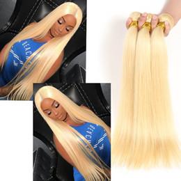 Wholesale unprocessed honey - cheap honey blonde weave 100% unprocessed russian 613 blonde straight human hair extensions 8-30inch 3 bundles sale