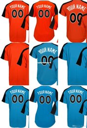 Wholesale American Baseball Orange - Custom Mens Ladys Kids American League Team World USA Blue Orange 2017 All-Star Game Personalized Any Name & NO. Jerseys