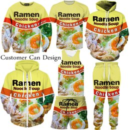 Wholesale Chicken Blue - New Fashion Couples Men Women Unisex Ramen Noodles Chicken Beef 3D Print Tracksuits Suits Hoodies Pullover Top S-5XL TZ1