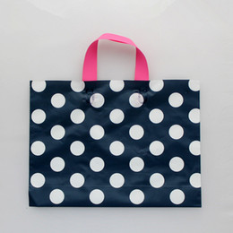 Wholesale Free Shopping Malls - Wholesale- Plastic Handle Bag Shopping Mall Wedding Party Gift Favor Grocery Clothes Packaging Bags Free Shipping
