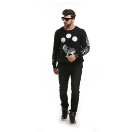 Wholesale 6xl Men Sweaters - Fall-New Mens Casual Knitted Sweater Plus Size Boys Black Hoodie Tops Sweatshirt [MA651-MA656]