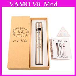 Wholesale Mini Vamo - 2015 Upgraded VAMO V8 40W Mod Kit Vamo V6 20W Mechnaical Mods fit 510 ego thread atomizers nautilus mini bdc bvc aerotank mega 0207272