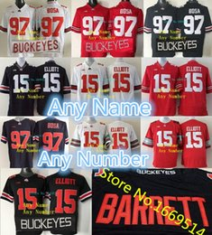 Wholesale nwt shorts - Factory Outlet- Custom Blackout Ohio State Buckeyes Jerseys Any Name Any Number Red Black Buckeyes Football Jerseys For Men Women Kids NWT S