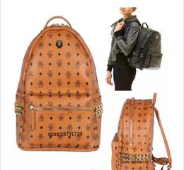 Sacs unisex boston en Ligne-été nouvelle arrivée mode punk rivet sac à dos sac d'école unisexe sac à dos sac d'étudiant hommes voyage STARK SAC À DOS.