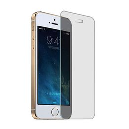 Wholesale New Iphone Glass Screen - New Arrival 2.5D Tempered Glass For iphone 5S iphone 5 Screen Protector 0.26mm Explosion Proof Film For iphone 5S 9H Hardness With Package