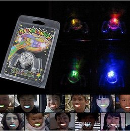 Wholesale Led Flashing Mouth Lights - Flashing LED Light Up Mouth Braces Piece Glow Teeth For Halloween Party Rave Festive Party Supplies c270