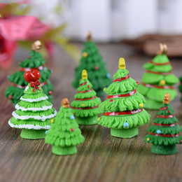 Wholesale Wholesale Miniature Craft Trees - Christmas Trees Gift Miniature Decoration Mini Craft Micro Landscaping DIY Accessories Simulation Kid Gift Teaching Aids
