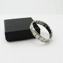 Wholesale Germanium Ion Bracelet - New Silver Titanium Health Bracelet Power Nano Energy Germanium Magnetic Balance Ion Powerful!