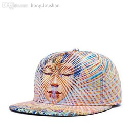 Wholesale Wholesale Swag Hats - Wholesale-Psychedelic Head portrait Buddha hats for men women snapback sports baseball hat hip-hop caps bone swag gorras chapeu wkm-011