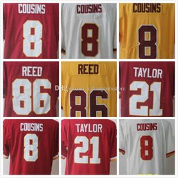 Wholesale Free Games 21 - Man jersey #8 Kirk Cousins 21 Sean Taylor 86 Jordan Reed Elite Game Limited wholesale jerseys Top quality Throwback free shipping
